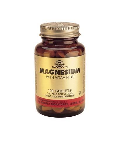 Solgar Magnesium 400mg B6 25mg 100 tabletter