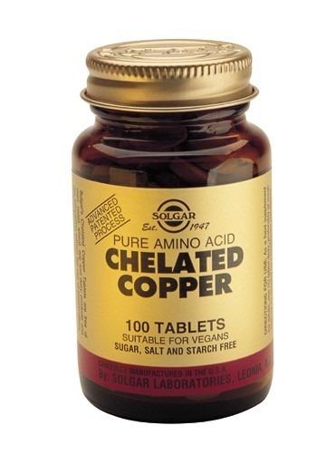 Solgar Kelaterat Koppar 100 tabletter