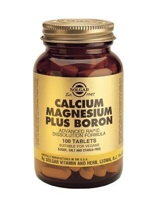 Solgar Kalcium Magnesium med Bor 100 tabletter