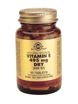 Solgar Vitamin E 600iu 495mg torr form 50 tabletter