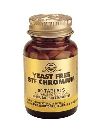 Solgar Krom Picolinat 100mcg jästfria 90 tabletter