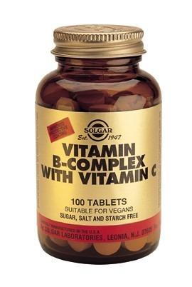 Solgar B komplex med C vitamin 250 tabletter